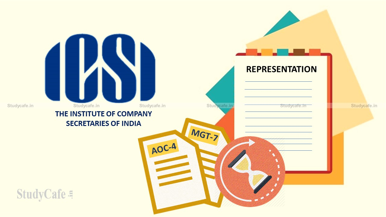ICSI Representation to MCA for extension of time limit for annual filing