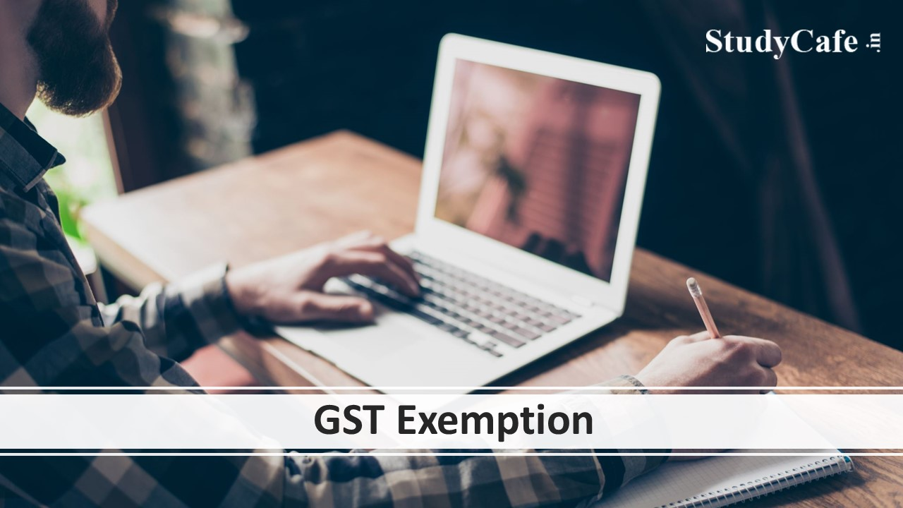 GST Exemption not available on pre-examination, technical assistance for conduct of online examination & post-examination services